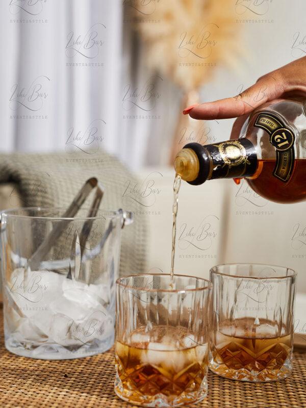 סט וויסקי – שמפניירה ו-6 כוסות