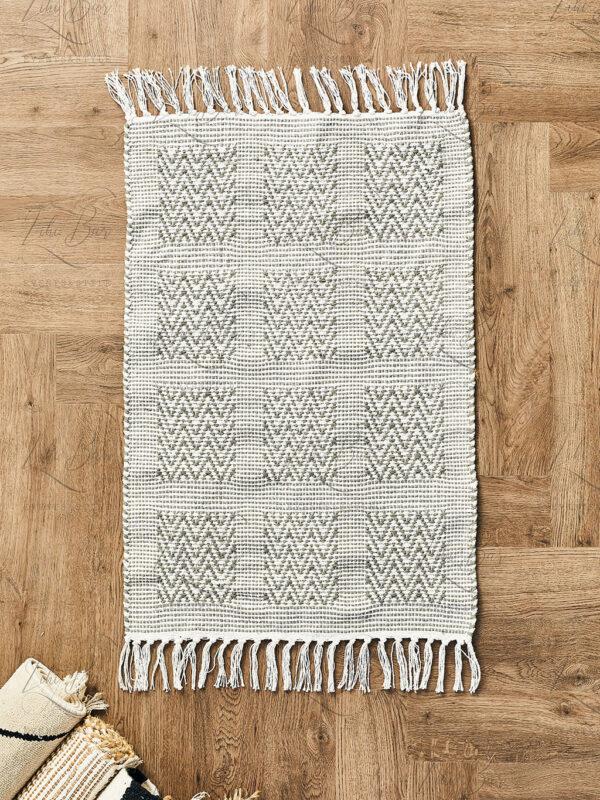 שטיח זיג-זג אפור